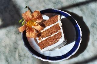 Slice of Organic Carrot Cake